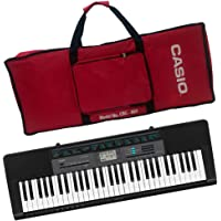 Casio CTK-2550+CBC-600 61-Key Portable Keyboard with Carry Case Bag (Red)