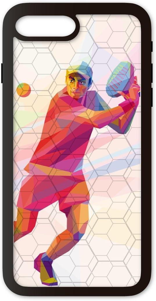 PHONECASES3D Funda móvil Compatible con iPhone 7 Plus/Compatible con iPhone 8 Plus Padel Volea. Carcasa de TPUde Alta protección. Funda Antideslizante, Anti choques y caídas.