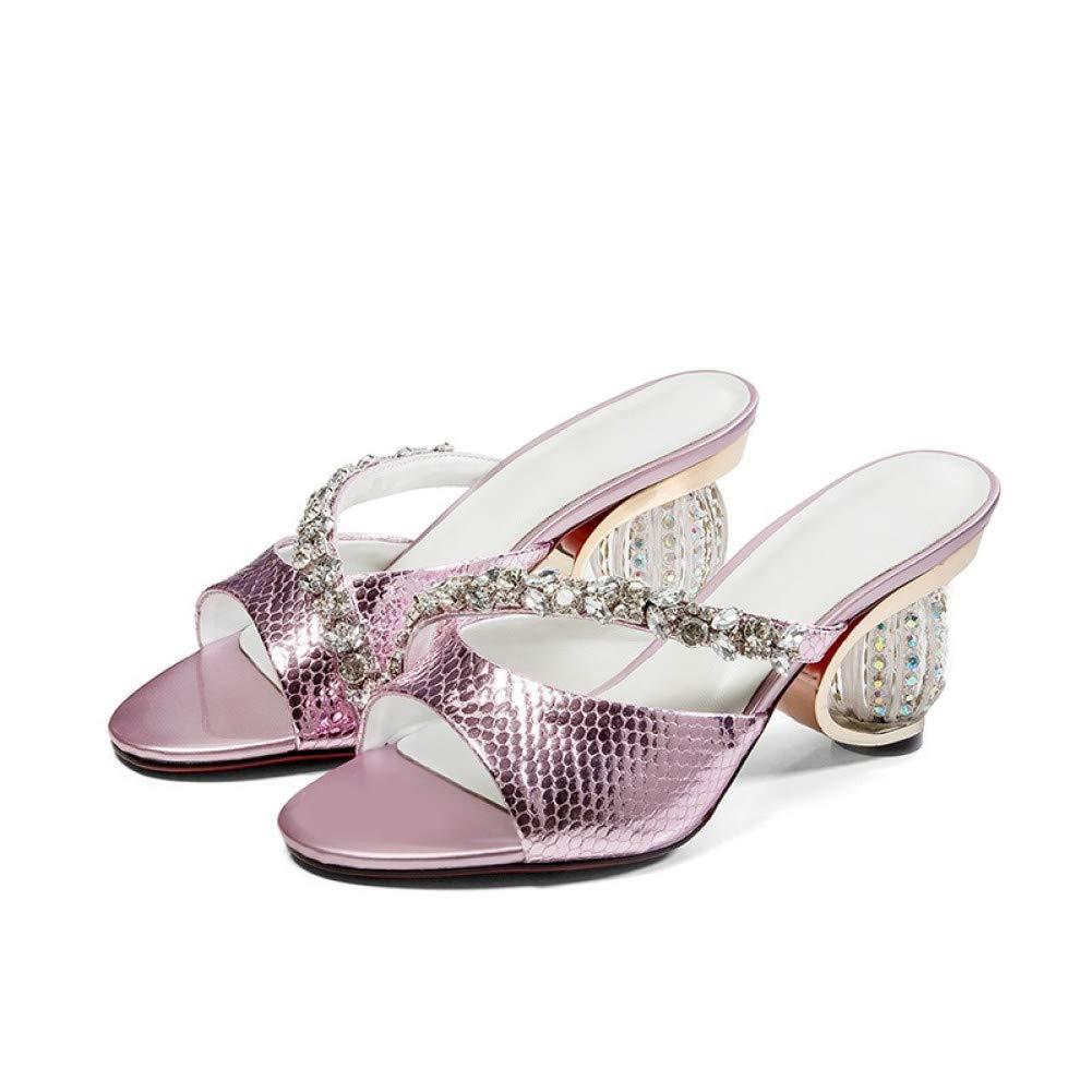 PINGXIANNV Schuhe Schuhe Schuhe Frauen Sommer Mode Kristall Dekoration Offene Spitze Frauen Hausschuhe Außerhalb Schuhe B07P53J96H Tanzschuhe Haltbarer Service 968c96