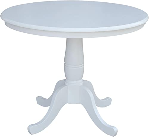 Whitewood Industries International Concepts 36″ Round Top Pedestal Table