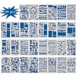 30PCS Bullet Journal Templates Painting Stencil Set-Notebook/Diary/Scrapbook Plastic DIY Drawing Template,4x7 Inch