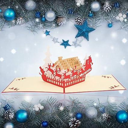 Tarjeta de Navidad, tarjeta de felicitación de vacaciones de ...