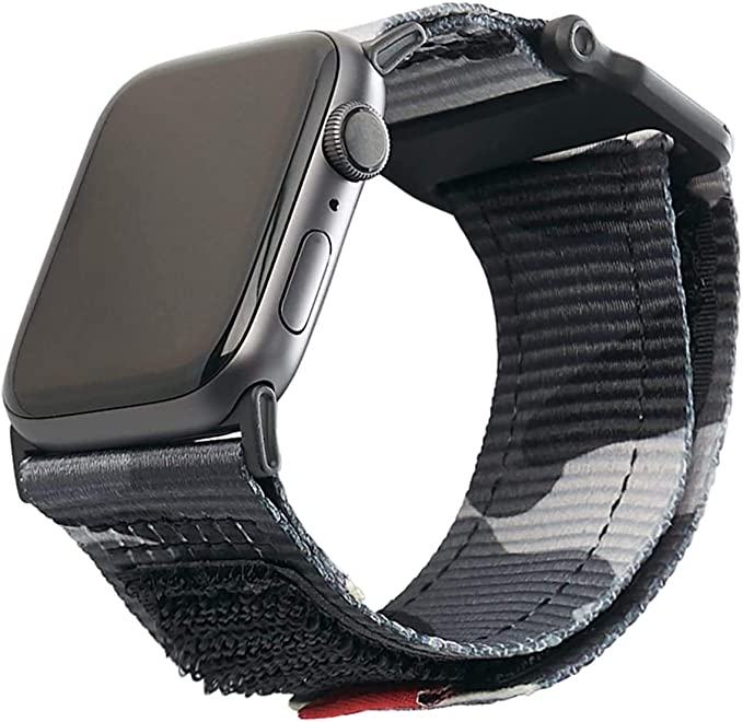 Urban Armor Gear Active Armband Für Apple Watch 42mm 44mm Watch Se Series 6 Series 5 Series 4 Series 3 Series 2 Series 1 Stabiles Ersatzarmband Aus Nylon Midnight Camo Elektronik