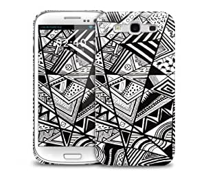 Black White Abstract Samsung Galaxy S3 GS3 protective phone case