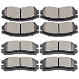 SCITOO Ceramic Disc Brake Pads Set for Chrysler Sebring,Dodge Avenger Stratus,Eagle Summit Talon,Mitsubishi Eclipse Expo Galant Expo LRV,Plymouth Colt