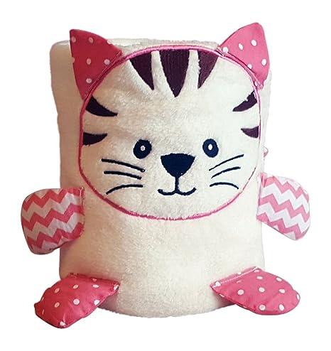 Rosa diseño de gatito de gato manta de bebé, teddy, colcha y ...