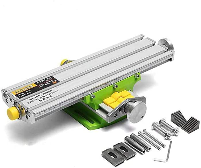 "Mini Precision Milling Machine Worktable Multifunction Drill Vise Fixture Working Table (Medium (13""-3.75""))"