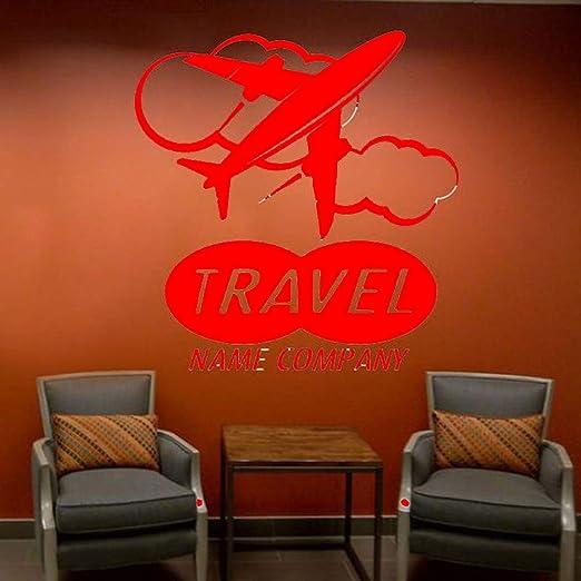 yaoxingfu Nombre de Viaje Personalizado Compañía Etiqueta de Pared ...