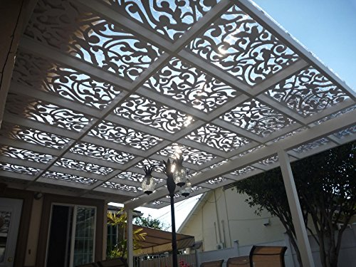 Acurio Ginger Dove White Vinyl Lattice Decorative Privacy