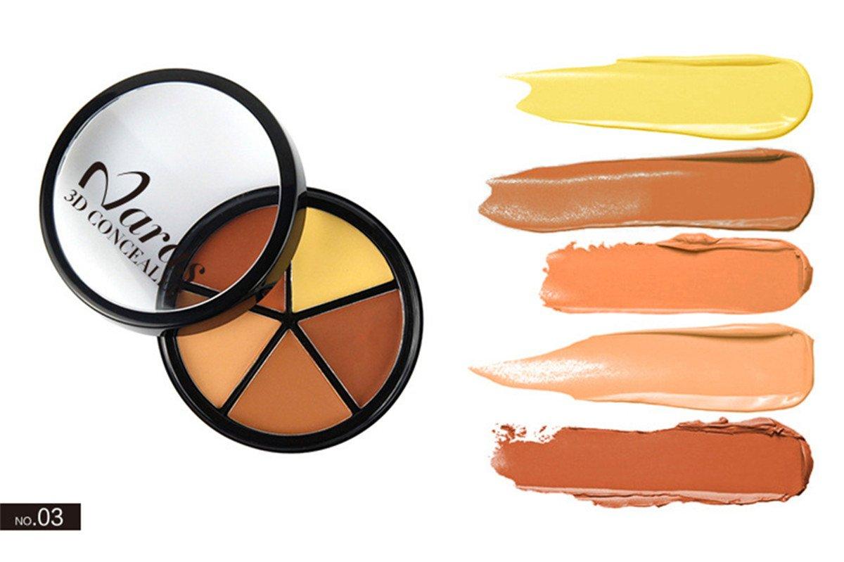 FantasyDay® Professionale 5 Colori Correttore Cosmetico Camouflage Palette Trucco #1 - Adattabile a Uso Professionale che Privato