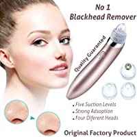 Blackhead Remover Vacuum Suction Facial Pore Cleaner Electric Acne Comedone Extractor Kit with 4 Suction Head for Women and Men Blackhead Extraction kit with 5 different suction levels