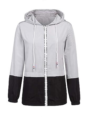 7e7d702282dbc3 Amazon.com  ZEGOLO Women s Raincoats Waterproof Packable Windbreaker  Lightweight Active Outdoor Hooded Rain Jacket S-XXL  Clothing