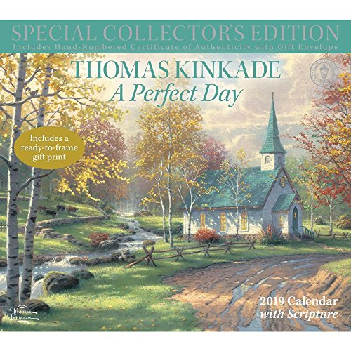 - Thomas Kinkade Special Collector's Edition with Scripture 2019 Deluxe Wall Calendar