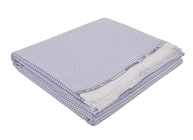 e02cdfb17 Image Unavailable Source · Raymond Men s Cotton Unstitched Shirt Fabric  Blue Free Size