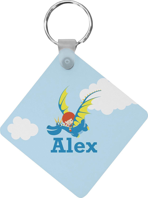 Flying a Dragon Diamond Key Chain (Personalized)