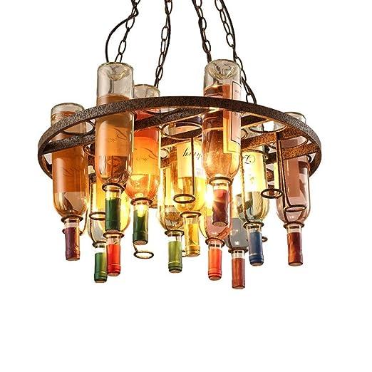 BESPD Retro estilo loft industrial creative araña de cristal ...