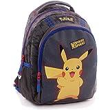Pokemon 160-8481 Pikachu Premium Backpack, Grey (Gris), 35 cm