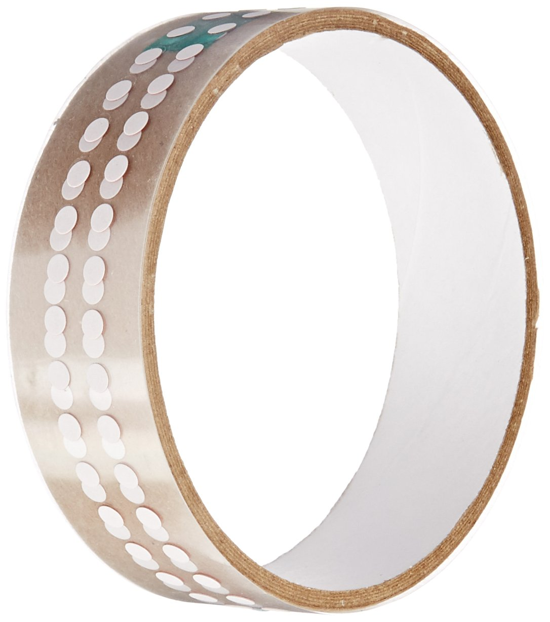 TapeCase 3M 5559 4MM-DISC-100 White Paper/Acrylic Adhesive Ultra Thin Water Contact Indicator Tape, 0.005'' Thickness, 0.157'' Length, 0.157'' Width (Pack of 100)