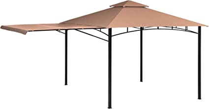 Amazon Com Shelterlogic Canopy Series Redwood 11 X 11 Foot Easy Assembly Seasonal Shade Uv Protection With Extendable Awning Outdoor Gazebo 11 X 11 Bronze Garden Outdoor