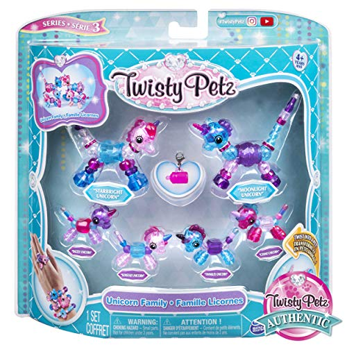 Twisty Petz, Series 3, Unicorn Family Pack Collectible Bracelet Set for Kids Aged 4 and -