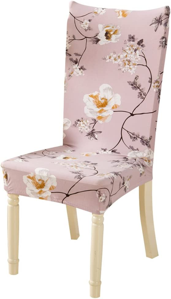 Baroque, 6 Happiness 8899 Wocharm 1//2//4//6 Pcs Removable Elastic Stretch Slipcovers Dining Chair Seat Cover