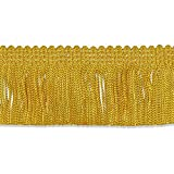 "Decorative Trimmings 100% Rayon Chainette Fringe, 2"" x 9 yd, Flag Gold"