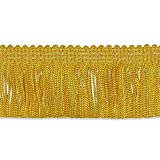 """Decorative Trimmings 100% Rayon Chainette Fringe, 2"""" x 9 yd, Flag Gold"""