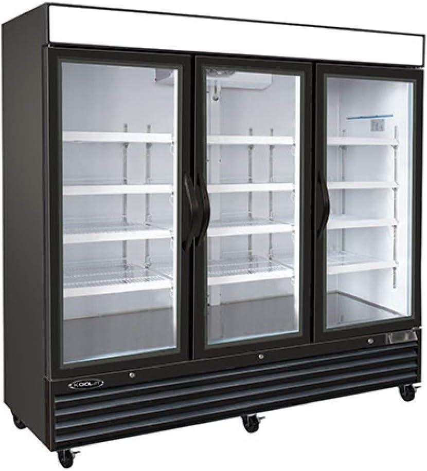 Kool-It 3 Door Commercial Upright Display Merchandiser Freezer- 72 Cubic Ft.
