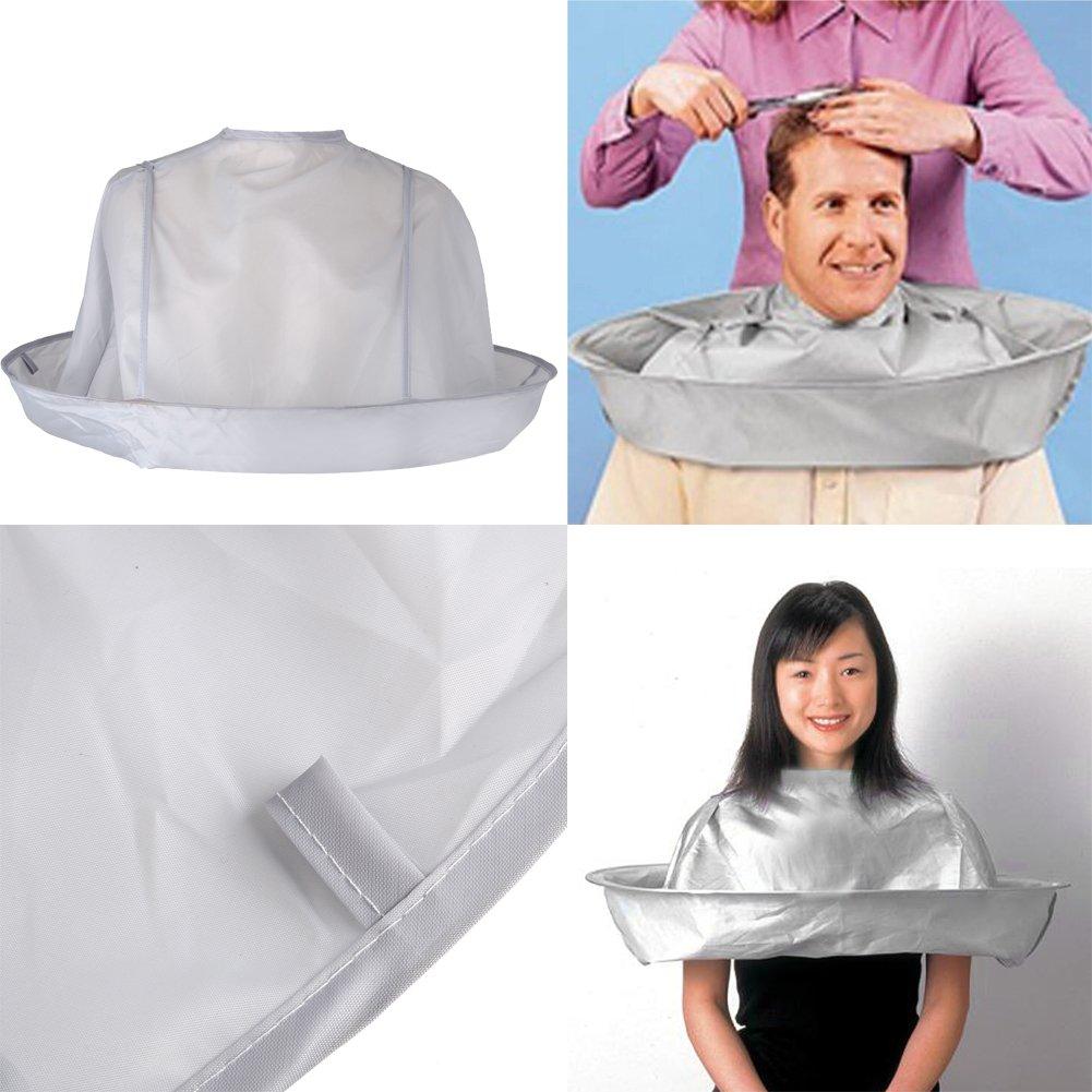 Wuudi- 1 paraguas plegable de peluquería para peluquería, peluquería, peluquería, peluquería, peluquería, accesorio de peluquería en casa (adulto, plata)