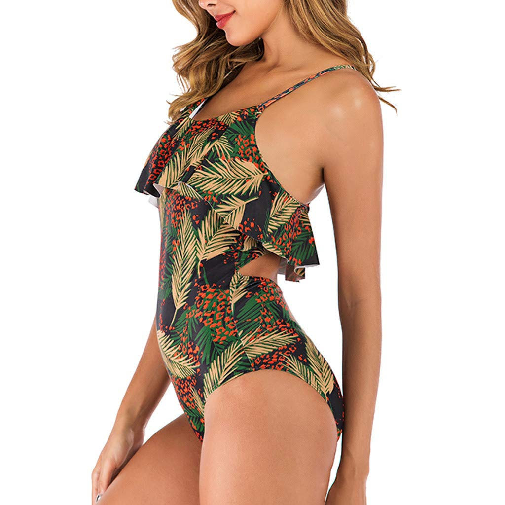 Femme Maillot De Bain 1 Pi/èce Chic Imprim/é Color/é Brillant Monokini Vintage Amincissant Taille Haute Ventre Plat Dos Nu Push Up Rembourr/é Elastique Tankini