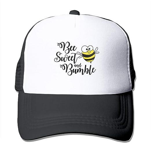 8e31f4850e5a2 Amazon.com  Riokk Az Bee Sweet and Bumble Summer Mesh Baseball Cap ...