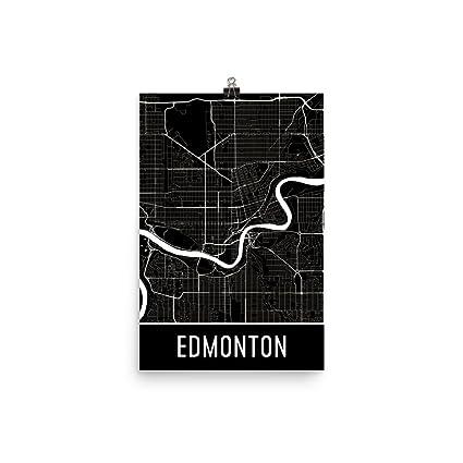 Amazon.com: Edmonton Print, Edmonton Art, Edmonton Map, Edmonton ...