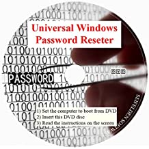 Universal Windows Password Reset DVD Disc for Windows 10, Windows 7, Windows Vista, Home 8.1 Win 8 Pro XP 32-bit 64-bit All Password Recovery Dell HP Acer Asus Sony Gateway Toshiba IBM Lenovo