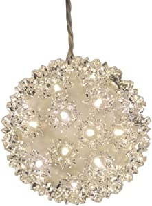 General Electric GE 5.5 in. Hanging Super Sphere Light Display with Twinkling Warm White LED Lights