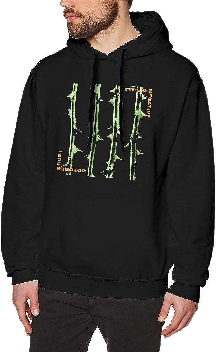 HKGJG Felpe con Cappuccio Mens Hooded Sweatshirt Type O Negative October Rust Unique Design Sweatshirtst Black for Mans Sweatshirt