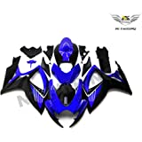 NT FAIRING Blue White Injection Mold Fairings Fit for Suzuki 2011-2015 GSXR 600 750 K11 GSX-R600 2011 2012 2013 2014 2015 Aftermarket Painted Kit ABS Plastic Set Motorcycle Bodywork Automotive