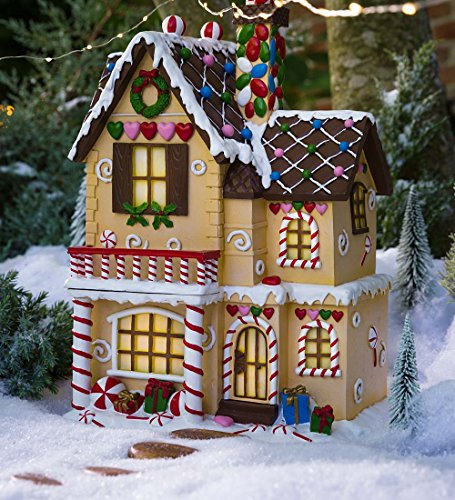 Lighted Victorian Gingerbread Fairy House - 10 L x 8.5 W x 14.75 H ()