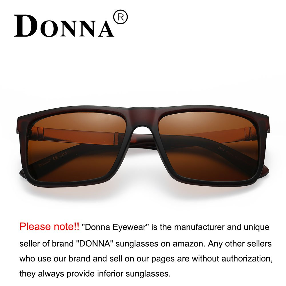a30a4951b DONNA Trendy Oversized Square Aviator Polarized Sunglasses Style with Big  Unbreakable Frame and Anti-glare Lens D54-BRX14: Amazon.ae: DUAE TRADE
