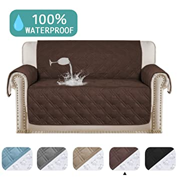 Remarkable Turquoize 100 Waterproof Sofa Protector For Leather Couch Cover Slip Resistant Quilted Pet Furniture Covers Brown Protector Cover Non Slip Great For Pabps2019 Chair Design Images Pabps2019Com