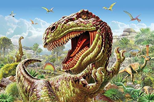 Dinosaur World Jigsaw Puzzle - White Mountain Puzzles T-Rex and Dinosaurs - 60 Piece Jigsaw Puzzle