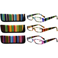 Eyekepper 3 Pack Ladies Reading Glasses for Women Smaller Readers +2.00