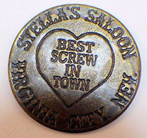 Company Token - Stellas Saloon Solid Brass Brothel Token