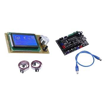 Sharplace Tablero de Control con Cable USB LCD 12864 ...