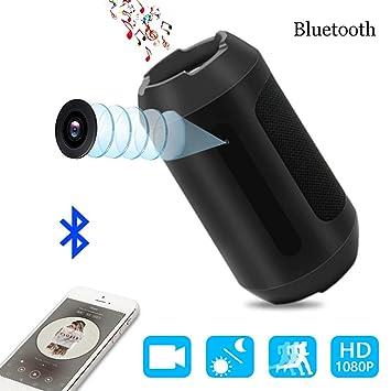 Cámara Espía,1080p Bocina Bluetooth Cámara Oculta Nanny Cam Security Para el Hogar y la Oficina con Detección de Movimiento, Visión Nocturna: Amazon.es: ...
