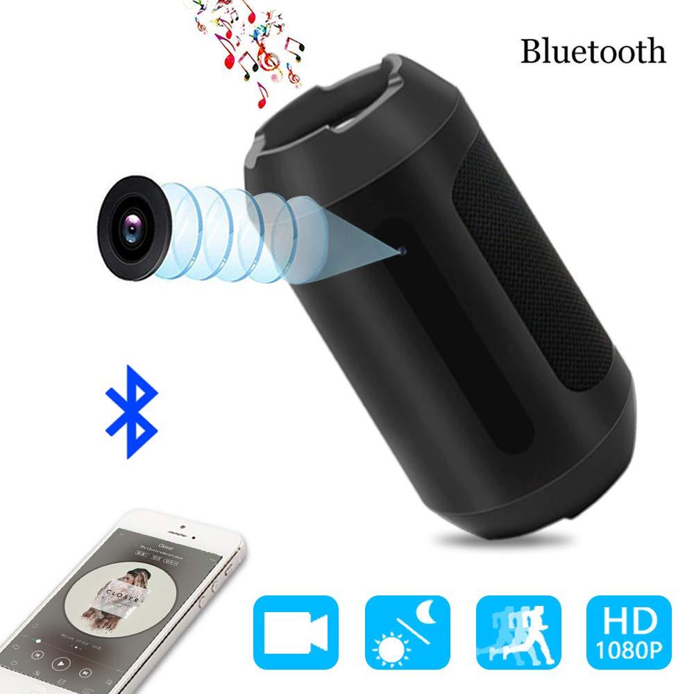 Cámara Espía,1080p Bocina Bluetooth Cámara Oculta Nanny Cam Security Para el Hogar y la