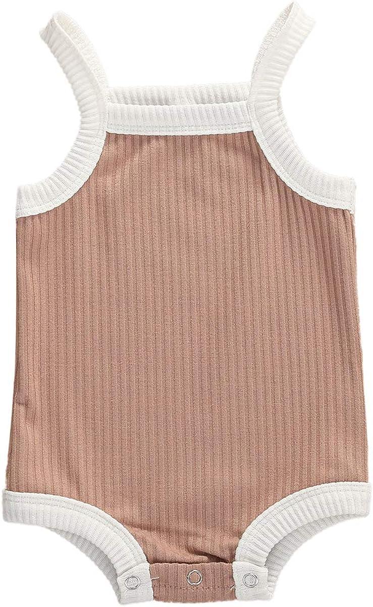 Unisex Baby Girls Boys One Piece Romper Cotton Solid Color Bodysuit Jumpsuit Pajamas Clothes Set