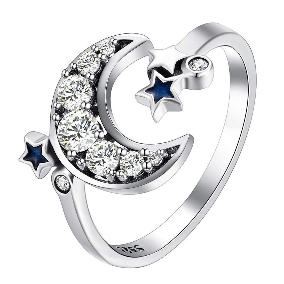 joyliveCY Fashion 925 Sterling Silver Jewelry Imperial Crown Luxury Elegant Party Ring Size 7 ChenYao-Swansea YHA2236