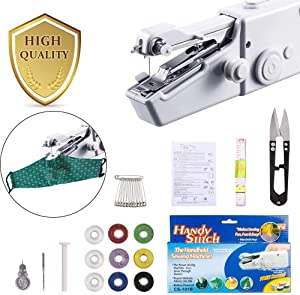 Handheld Sewing Machine,Mini Sewing Machine for Kids/Beginners to Quick Handy Stitch Clothes,Easy Quick Repairs,Fabric Leather Cloth Travel or Craft Sewing
