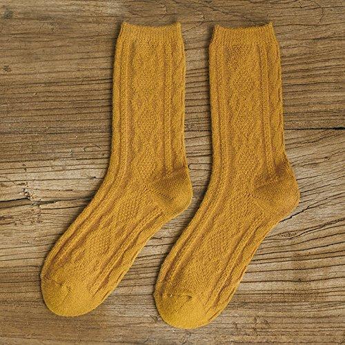 Socke Herbst Winter dicke warme Wollsocken Frauen Farbe weibliche 1, Gelb Excellent Product