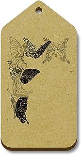 Azeeda 10 x 'Coin Papillon' etiquettes de Bagage / Cadeau en Bois (TG00009303)